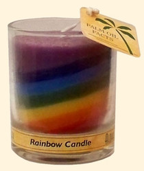 Chakra Jar Unscented Candle - Rainbow 2.5 oz