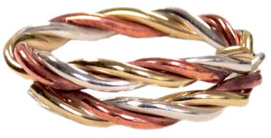 Bangle Ring - Three Metals