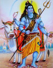 Shiva & His Vahana Nandi - Foam Backed