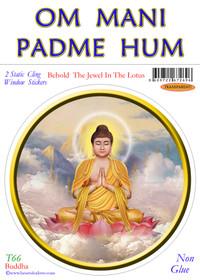Static Cling Sticker - Buddha