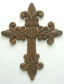 Large Fleur De Lis Cross Inner Path