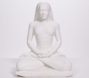 "Statue - Babaji Meditating - Marble Blend 8"""