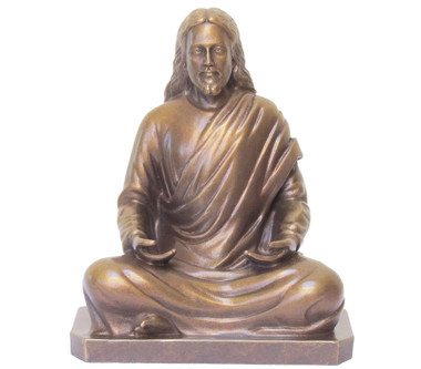 Statue Jesus Meditating Golden Bronze 8 Quot Inner Path