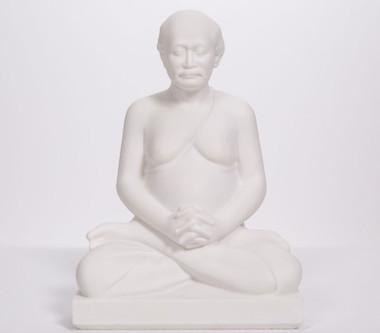 """Lahiri Mahasaya Meditating - Marble Blend 8"""""""