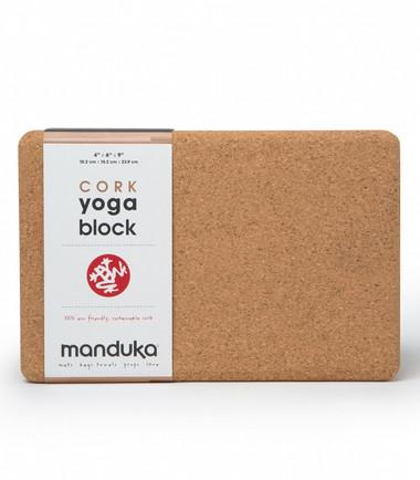 Manduka 100% eco friendly, sustainable cork block.
