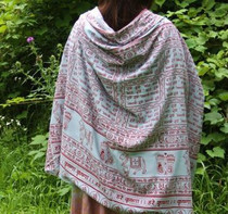 Meditation Shawl - Maha Mantra - Grey