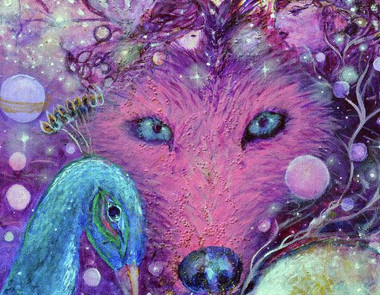Chakra Six - Wolf - Greeting Card