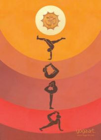 Yoga Asana - Greeting Card