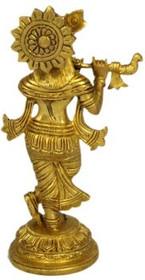 """Statue - Krishna Brass 7.5"""""""