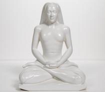 """Statue - Babaji Meditating - White 8"""""""