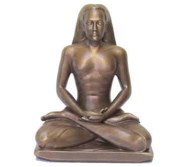 Statue - Babaji Meditating - Golden Bronze 8""