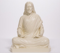 "Statue - Jesus Meditating - Almond 24"""