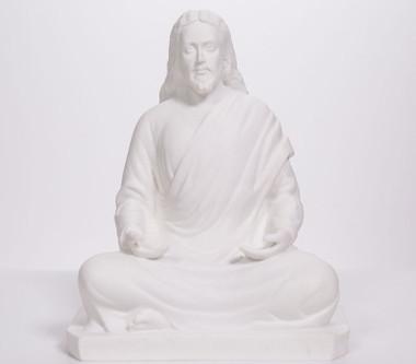 """Statue - Jesus Meditating - Marble Blend 8"""""""