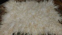Felted Wool Meditation Mat - White