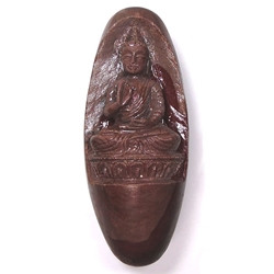 Lingam With Buddha Carving