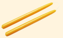 "Beeswax Taper Candle - 9"" (pair)"