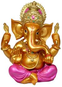 "Ganesh Sitting - 5.5"" - Orange"