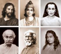 Altar Set - Yogananda Line 6 Gurus - Sepia  Photos - 8 x 10