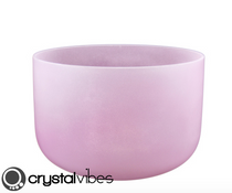 Perfect Pitch Rose Quartz Fusion Crystal Singing Bowl - Empyrean F Note - 8""