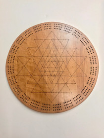 Cribbage Board Sri Yantra