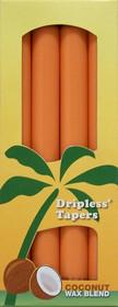 Dark Orange Palm Wax Taper Candles