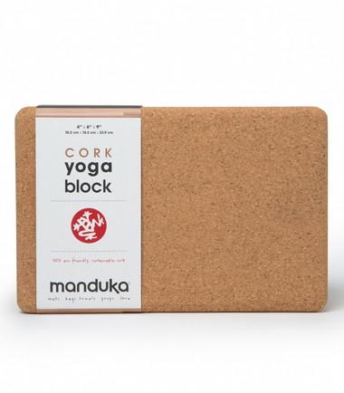 Manduka 100% eco friendly, sustainable cork block.