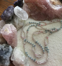 Aquamarine and Rose Quartz Necklace