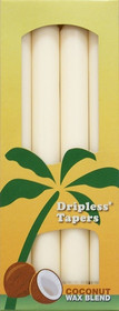 Ivory Palm Wax Taper Candles