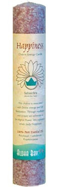 Chakra Energy Pillar Candle - Happiness