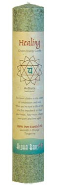 Chakra Energy Pillar Candle - Healing
