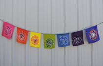 7 Chakra Bali Rayon Prayer Flags