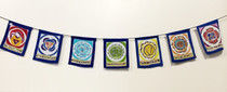 Hand Made 7 Chakra Bali Rayon Prayer Flags, 2