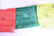 "Windhorse Tibetan Prayer Flags (10) 10"" X 12"""