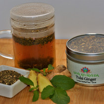 Tulsi Ginger Tea, 16 oz