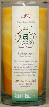Chakra Energy Jar Candle - Love