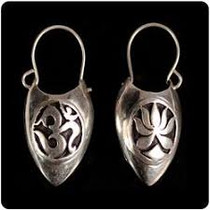 Lotus OM Bucket Earring - Sterling Silver