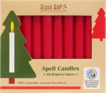"• Fragrance free taper candles  • 100% vegetable coconut wax blend sourced from sustainable agriculture  • Paraffin, soy, and GMO free  • REACH compliant vegetable oil based dyes  • Clean burning with pure cotton wicks  • A box contains 20 candles, ½"" wide by 4½"" tall  • Each candle has an estimated burn time of 1.5 hours"