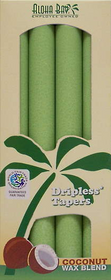 Melon  Green Palm Wax Taper Candles
