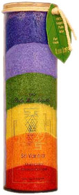 Chakra Jar Unscented Candle - Rainbow (Sri Yantra)