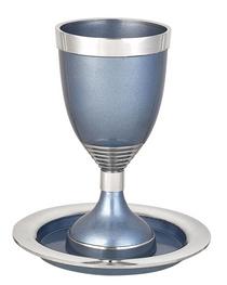 Light Blue Kiddush Cup Set