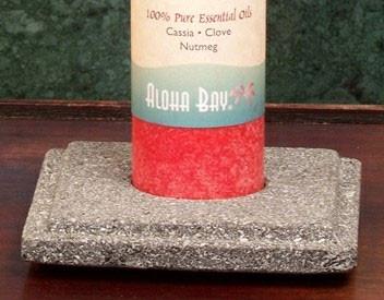 Chakra Pillar Holder - Lava Stone