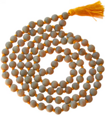 Sandalwood Japa Gold Tassel 108 Beads
