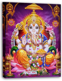 Ganesh Radiant Canvas Print