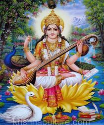 Saraswati Gold Print