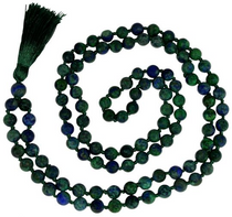 Peacock Lapis Japa Beads