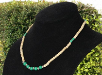 Tulsi Neckbeads with Turquoise