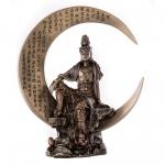 Statue - Quan Yin on Crescent Moon