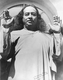 Paramhansa Yogananda Photo - Birth of an Era B&W 8X10