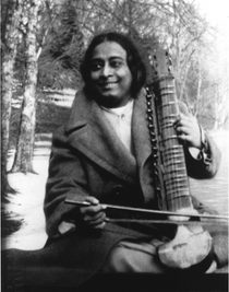 Paramhansa Yogananda Photo -  Playing an Esraj -  8X10