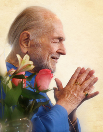 Swami Kriyananda Photo - Flowers 8X10